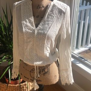 Re:named ivory lace shirt